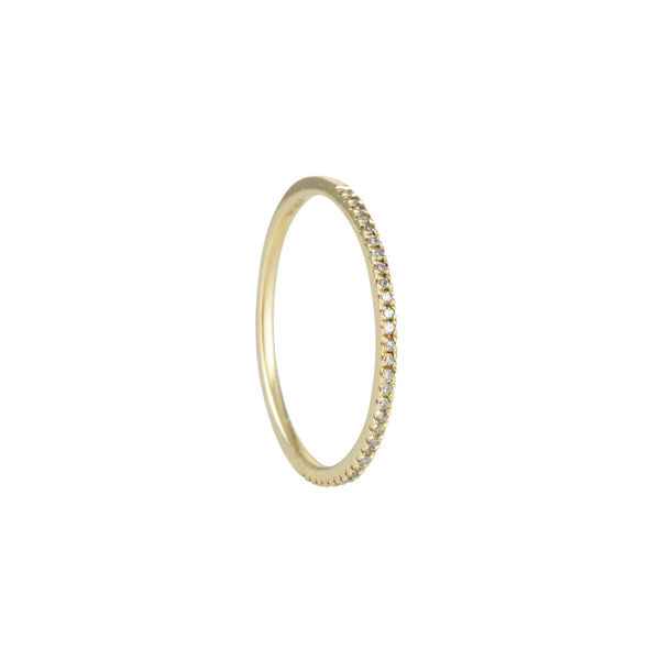 Liven - Thin Diamond Stacking Ring