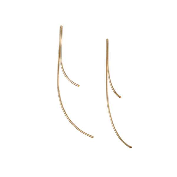 8.6.4 - Fold Stick Earrings in Goldfill