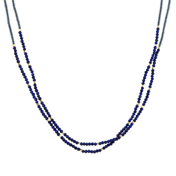 Debbie Fisher - Lapis Doubled Strand Necklace