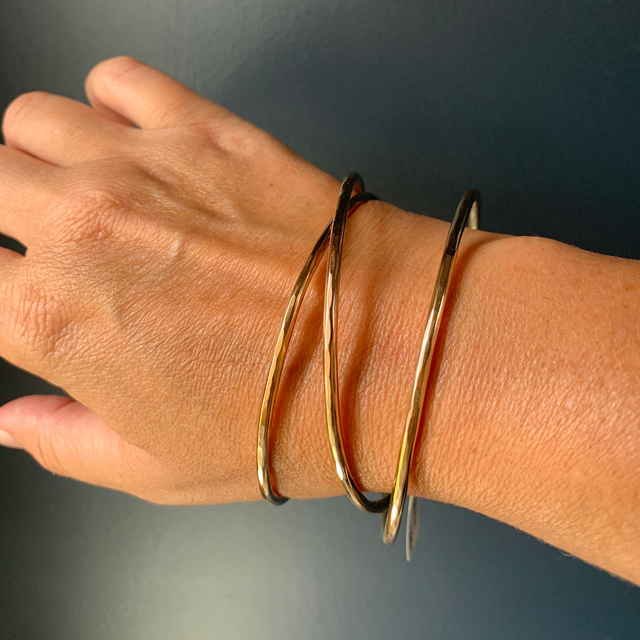 Zuzko Jewelry - Slinky Bangle Bracelet in Goldfill
