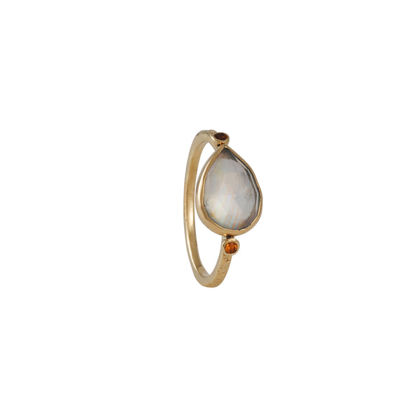 Emily Amey - Moonstone and Sapphires Ring