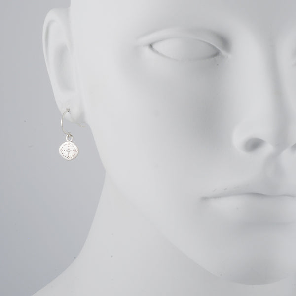 Adel Chefridi - Diamond Nostalgia Drop Earrings in Sterling Silver