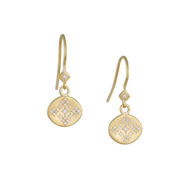 Adel Chefridi - Moon and Stars with Diamonds Earrings