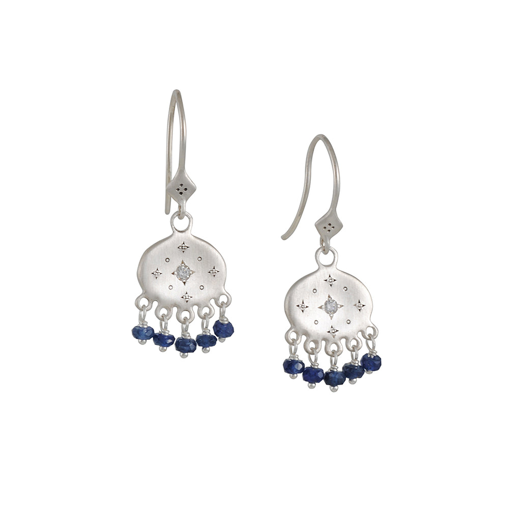 Adel Chefridi - New Moon Sapphire Earrings
