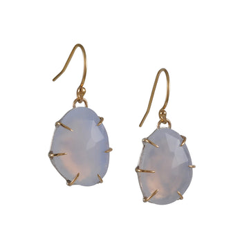 SALE - Rose Cut Chalcedony Earrings