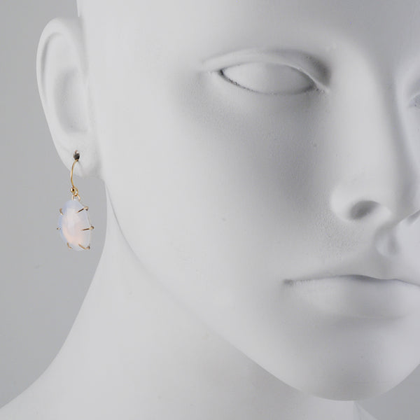 Emily Amey - Rose Cut Chalcedony Earrings