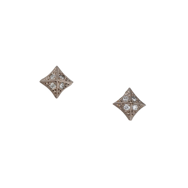 Annie Fensterstock - Diamond Pyramid Studs