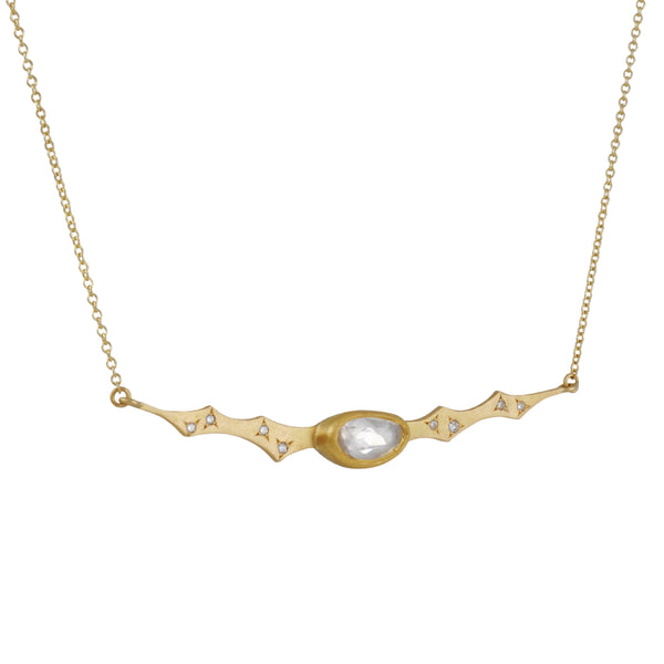 Annie Fensterstock - Scalloped Bar Necklace