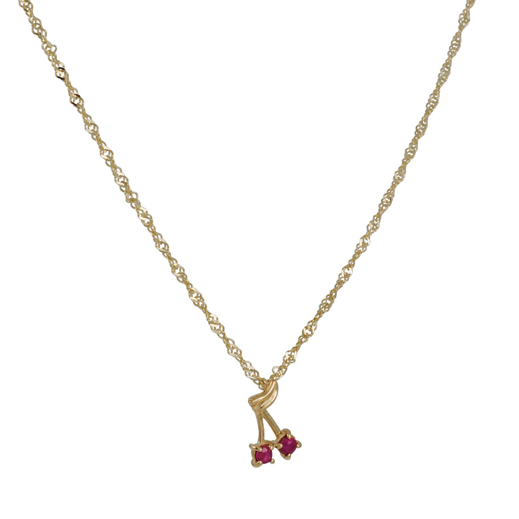 Ariel Gordon - Ruby Cherry Bomb Necklace
