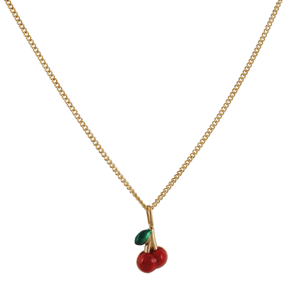 Ariel Gordon - Enamel Cherry Necklace