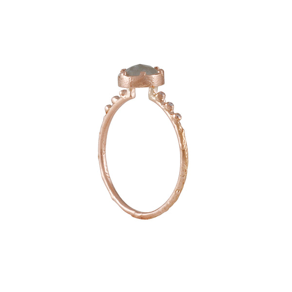 Ariko - Grey Diamond Rock Ring