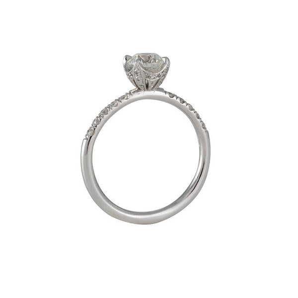 Varna - Diamond Crown Solitaire in 18K White Gold