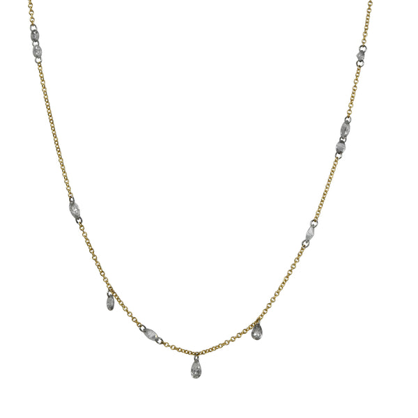 TAP by Todd Pownell - Free-set Necklace With 1 Carat Total Mixed-Cut Diamonds