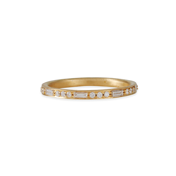 Annie Fensterstock- Eternity Band With Baguette and Round Cut Pave