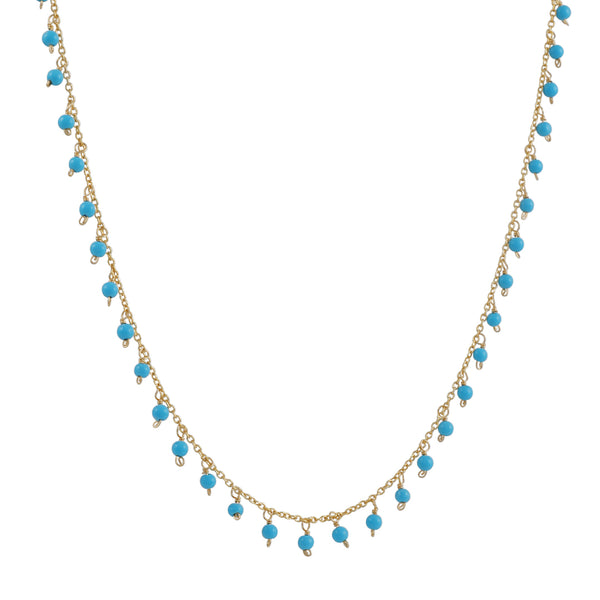 Christina Stankard - Fringe Turquoise Necklace