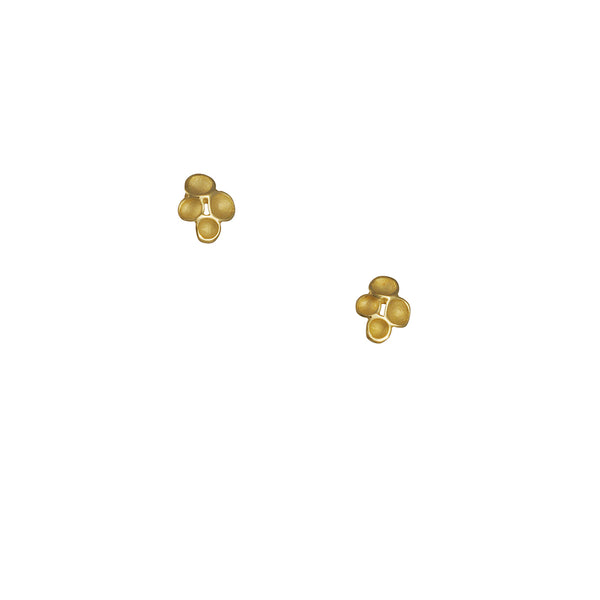 Sarah Richardson - Tiny Kite Stud Earrings in Gold Vermeil