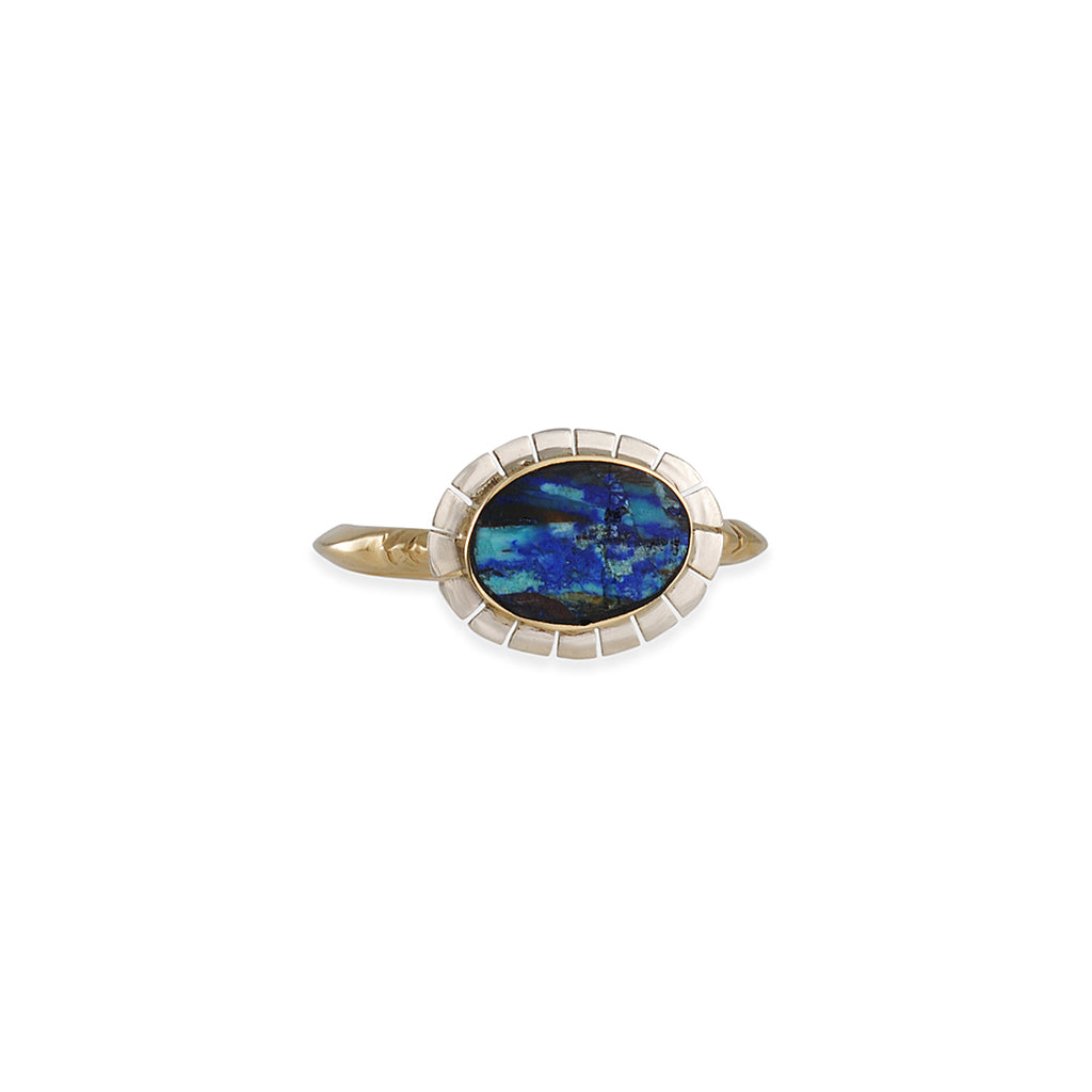 Young in the Mountains - Turquoise Azurite Equinox Ring