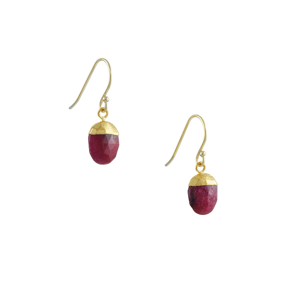 A. V. Max - Ruby Bud Drop Earring