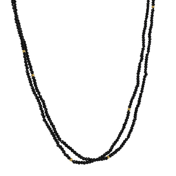 CP Collection - Black Spinel Wrap Bracelet and Necklace