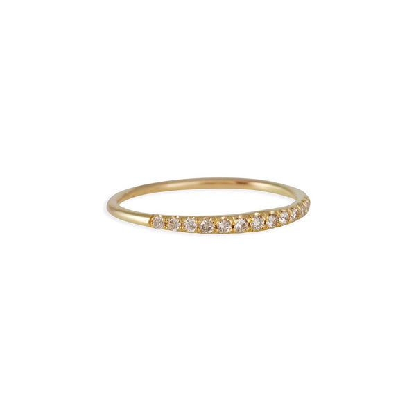 Diana Mitchell - Champagne Diamond Pave Arch Band
