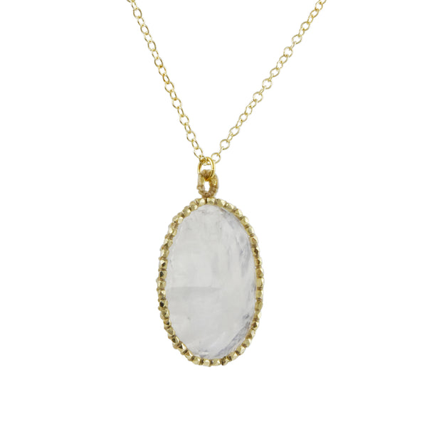 Danielle Welmond - Caged Moonstone Pendant Necklace