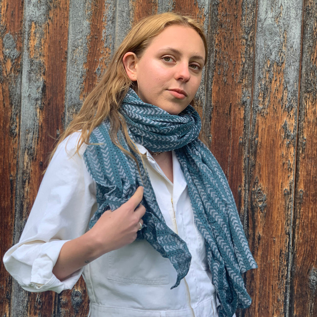 Gray Market Designs- Bath Teal Scarf