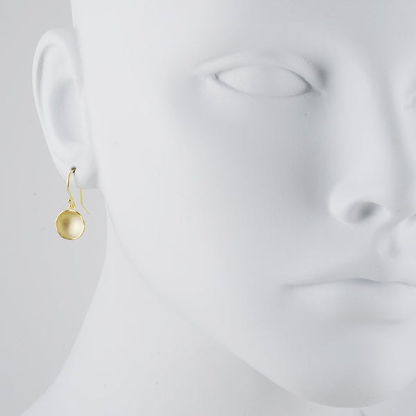 Sarah Richardson - Small Dishy Pod Earrings in Gold Vermeil