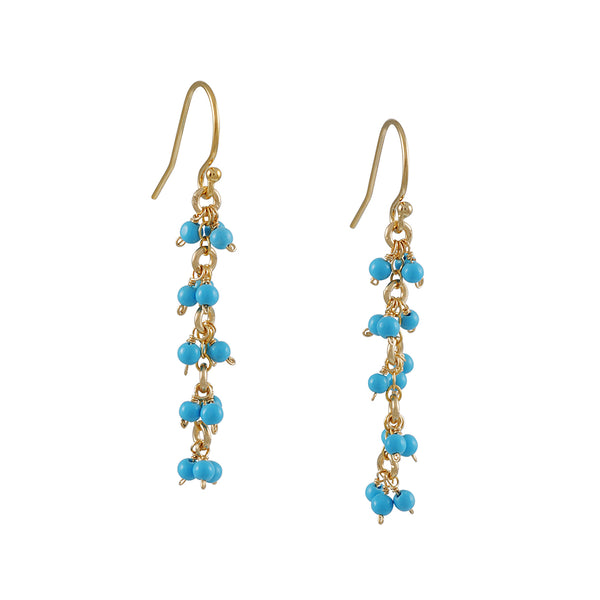 Christina Stankard - Triple Cluster Turquoise Drop Earrings