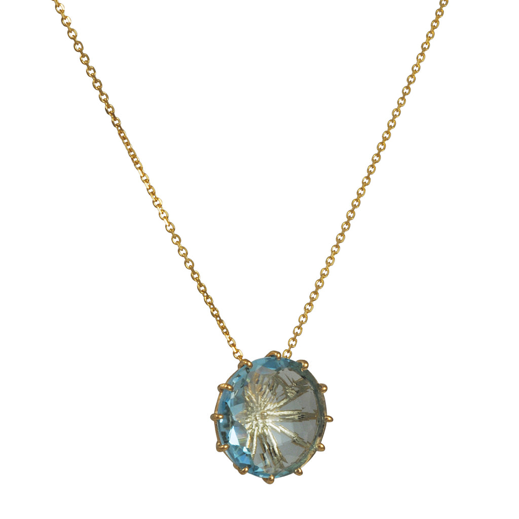 Suzanne Kalan - Multi Prong Swiss Blue Topaz Necklace
