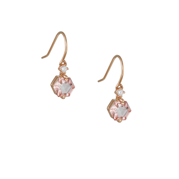 Suzanne Kalan - Hexagon Morganite Drop Earrings