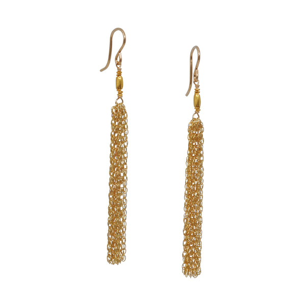Kate Winternitz - Claire Tassel Earrings in Gold Fill
