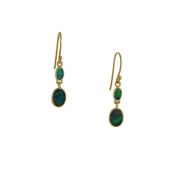 Kothari - Double Opal Drop Earrings