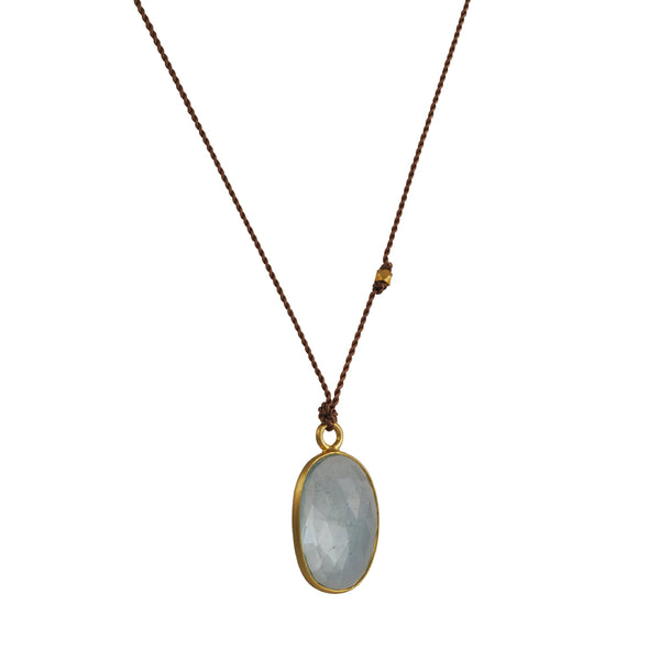 Margaret Solow - Aquamarine Pendant Necklace
