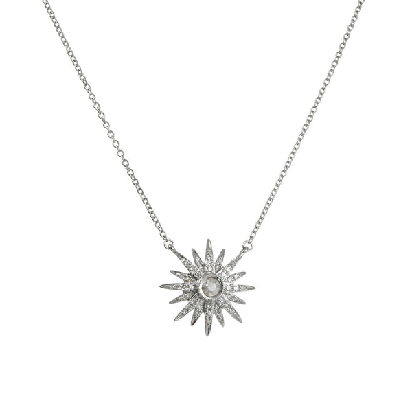 Cp Collection - Diamond Starburst Necklace