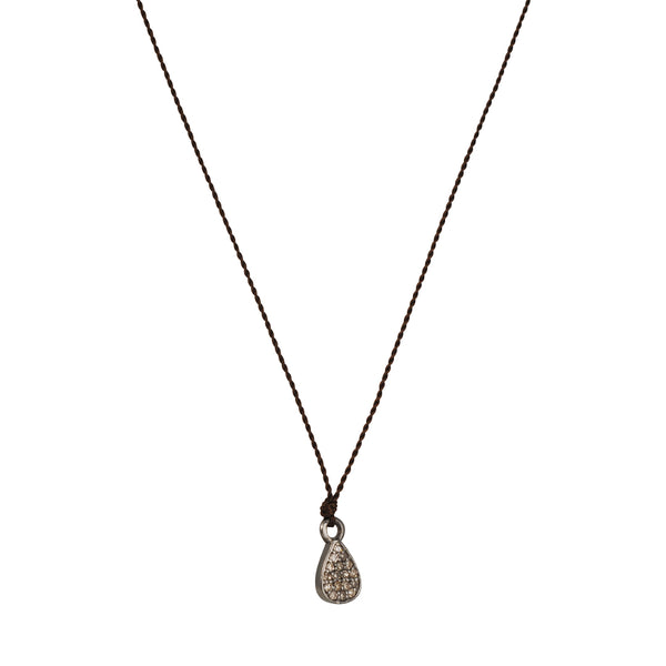 Margaret Solow - Pave Diamond Teardrop Pendant Necklace