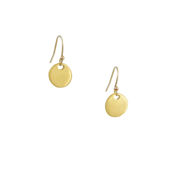 Philippa Roberts - Small Circle Earrings in Gold Vermeil