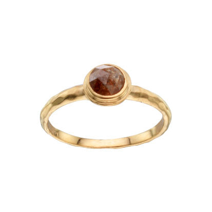 Steven Battelle - Round Raw Diamond Ring in 18K Gold