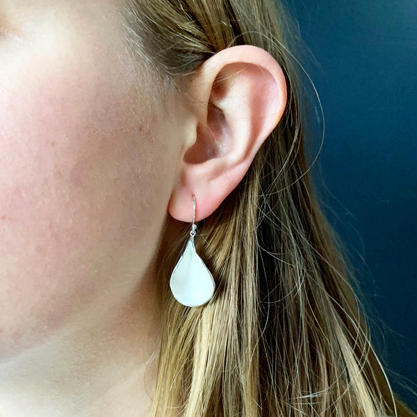 Sarah Richardson - Extra Large Petal Drop Earrings in Sterling Silver