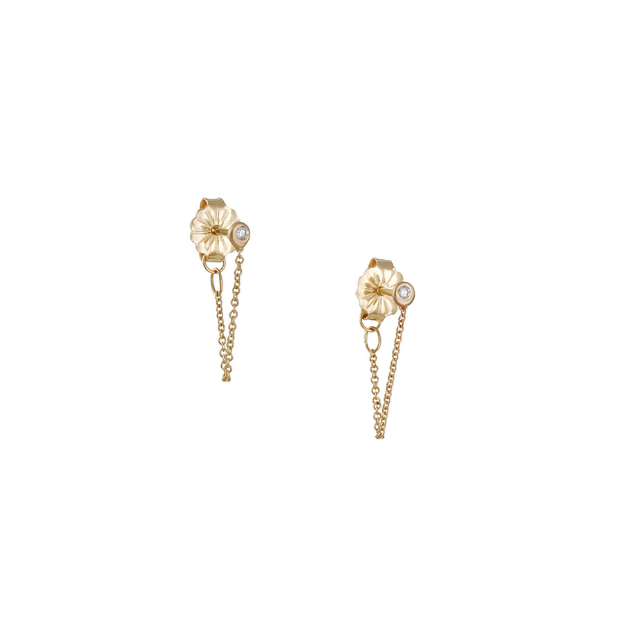 Carla Caruso - Single Chain Studs