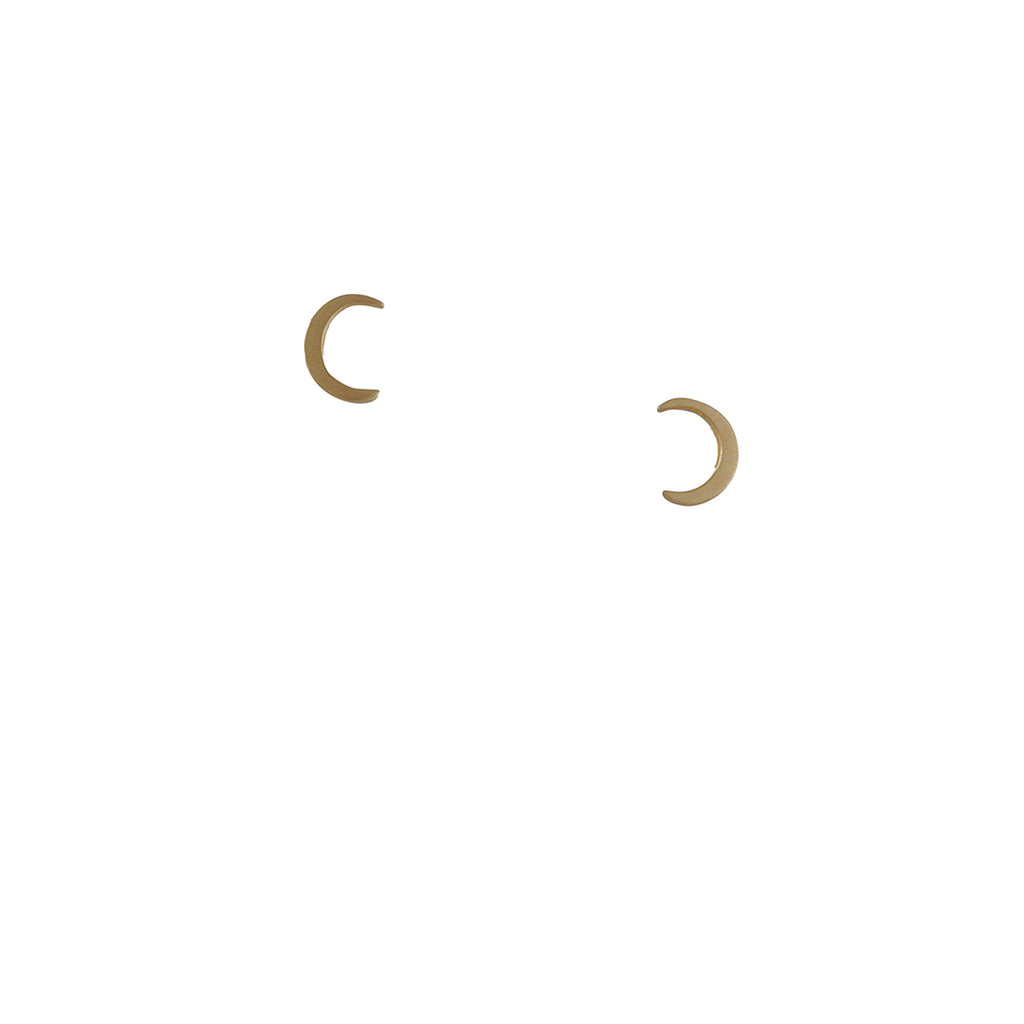 Carla Caruso - Micro Crescent Stud Earrings