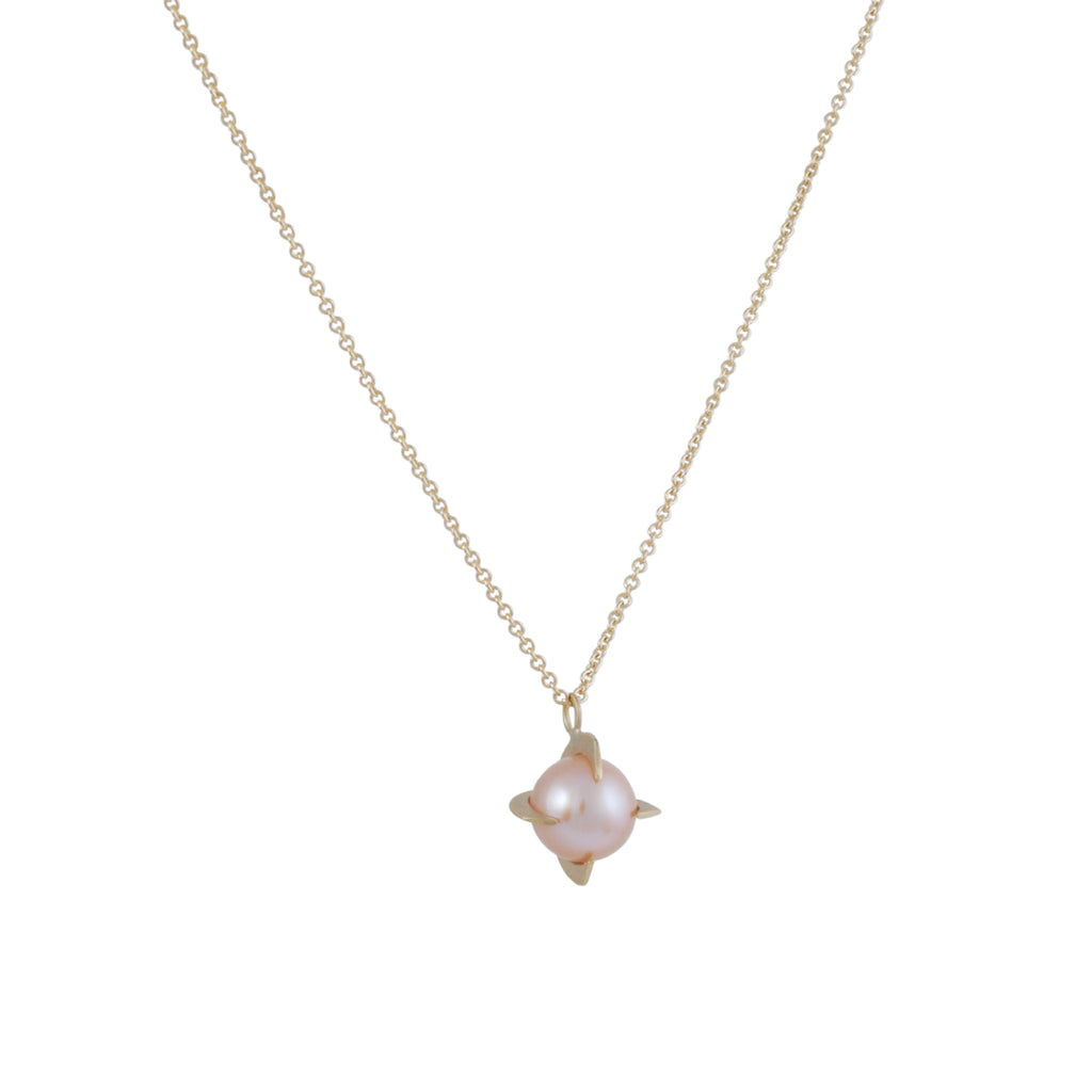 Carla Caruso - Pearl Shard Necklace in Pink
