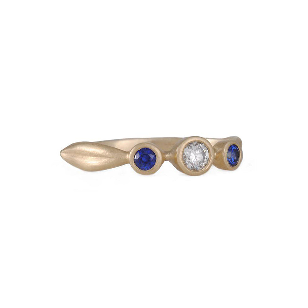 CARLA CARUSO- Diamond and Sapphire Engagement Ring