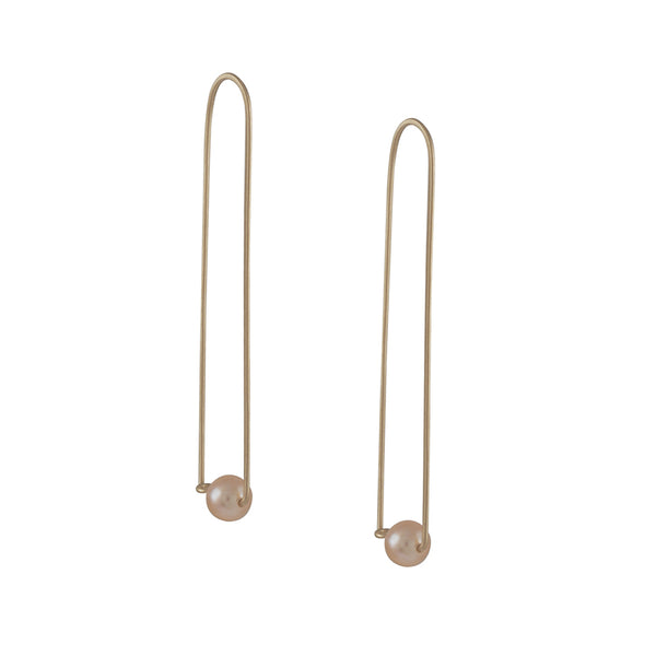 Carla Caruso - Large Pearl Arch Earrings