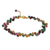 CATHERINE WEITZMAN - Faceted Multi-Colored Sapphire Cluster Gold Vermeil Bracelet