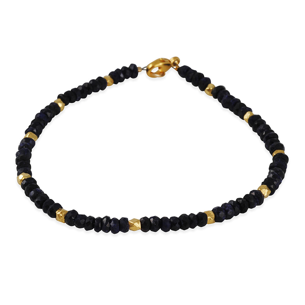 CATHERINE WEITZMAN - Faceted Sapphire And Gold Vermeil Wide Stripe Bracelet