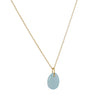 CATHERINE WEITZMAN - Flat Egg Necklace with Chalcedony