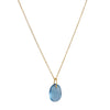 CATHERINE WEITZMAN - Flat Egg Necklace with Light Blue Topaz