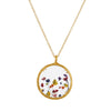 "CATHERINE WEITZMAN - Pressed Wildflowers Necklace in Gold Vermeil, 20"" Chain"