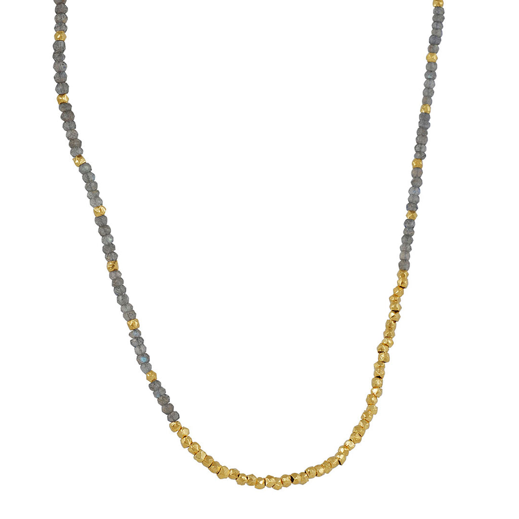 CATHERINE WEITZMAN - Reverse Fade Necklace in Labradorite