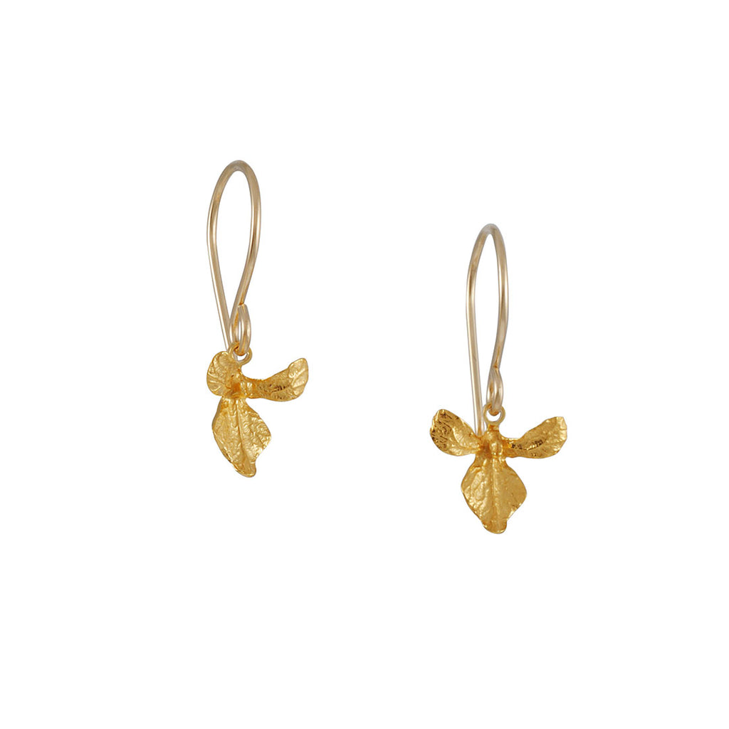 CATHERINE WEITZMAN - Small Orchid Earring in Gold Vermiel